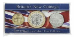 2005 New Coinage Brilliant Uncirculated Pack for sale